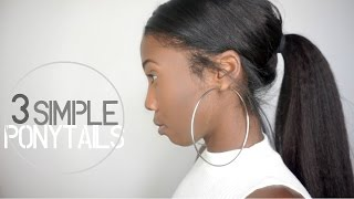 3 Simple & Easy Ponytail Clip-in Hairstyles   Knappy Hair Extensions
