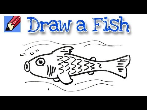 How to draw a fish Real Easy - Spoken Tutorial