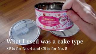 getlinkyoutube.com-How to make Sierra Cup lid with cake frame for 1 dollar daiso! from Japan