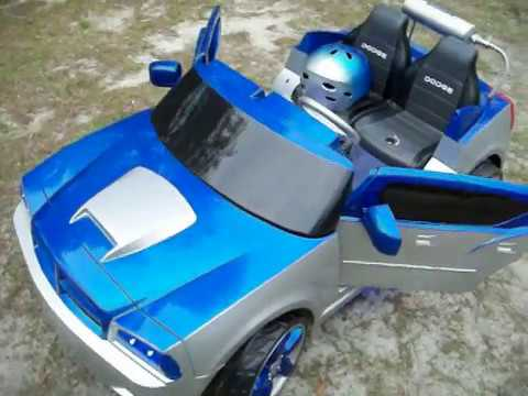 Vulgar Display Of Power Wheels Custom Royal Blue Dodge Charger