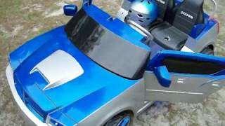 Modified Power Wheels Custom Built Royal Blue Dodge Charger pt 1
