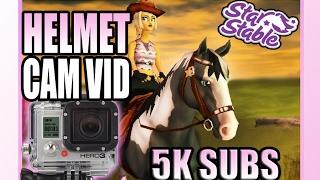 getlinkyoutube.com-Star Stable - HELMET CAM on English Thoroughbred - 5000 Sub Special