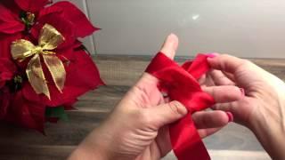 getlinkyoutube.com-DIY Schleife binden, basteln für Weihnachten, Geburtstag oder als Deko