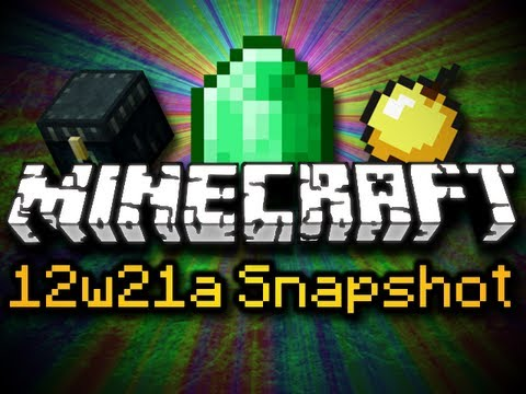 Minecraft 12w21a Snapshot - EMERALDS, ENDER CHESTS, VILLAGER TRADING, &amp; MORE! (HD)