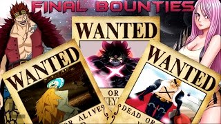 Supernovas Bounties/Wanted - At The End Of One Piece - Theory/Predictions