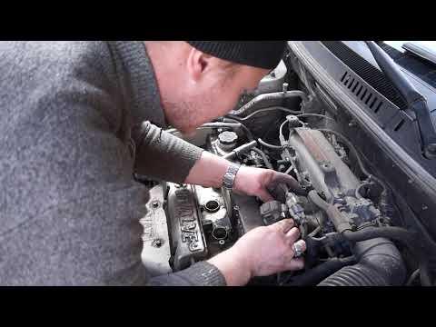 Замена прокладки клапанной крышки на G4BP santa fe 2004г