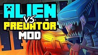 getlinkyoutube.com-Minecraft | ALIEN VS PREDATOR MOD Showcase! (FUTURISTIC, ALIENS, MARINES, NUKES)