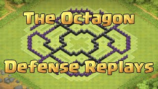 getlinkyoutube.com-Clash of Clans - TH8 Farming Base Defense Replays (The Octagon)