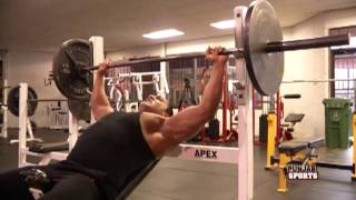 getlinkyoutube.com-Bodybuilder Kal Dosanjh Punjabi Sports Fitness Instructor - Chest Workout