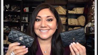 getlinkyoutube.com-Chanel Card Holder Vs. Louis Vuitton Cles