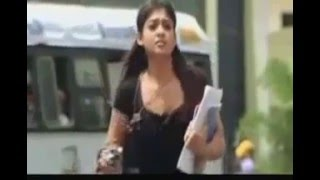 getlinkyoutube.com-Nayantara Without Bra Hot boobs bouncing and Cleavage