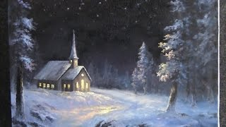 getlinkyoutube.com-Paint with Kevin Hill - Snowy Christmas