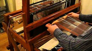 Hand weaving a Cashmere and Silk Scarf