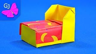 getlinkyoutube.com-Оригами кровать ~ Мебель из бумаги своими руками