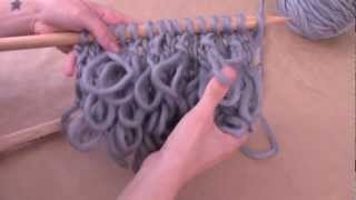 getlinkyoutube.com-¿Cómo tejer punto bucle? - Aprender a tejer punto rulo