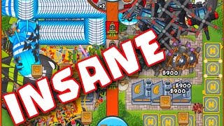 getlinkyoutube.com-Bloons TD Battles :: INSANE ARENA :: SO MANY CHOPPERS :: LATE GAME