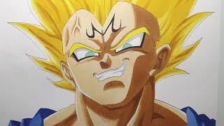 getlinkyoutube.com-Speed draw Majin Vegeta from Dragon Ball Z ベジータ