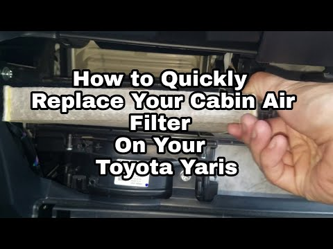 2017 Toyota Yaris How to replace cabin air Filter