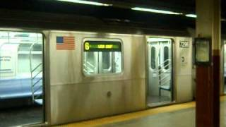 getlinkyoutube.com-Special: MTA NYCTA Bowling Green Bound 2003-2004 Kawasaki R142A (5) Local Train