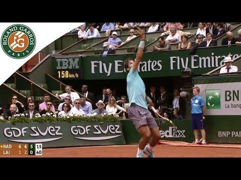 R.Nadal v D.Lajovic 2014 French Open men`s R4 Highlights