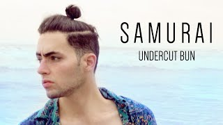 getlinkyoutube.com-Tutorial peinado hombre - Chongo Samurai - Man Bun Undercut  | Diego Dom