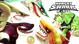 getlinkyoutube.com-Hungry Shark World - Updated All !! Sharks Montage (Zombie)