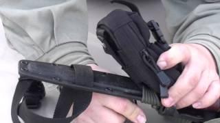 getlinkyoutube.com-Modifying Survival Knife Sheath for Bushcraft