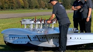 getlinkyoutube.com-DORNIER DO-X GIGANTIC RC SCALE 1:10 MODEL 60 KG FLYING BOAT FLIGHT DISPLAY / RC Airshow Hausen 2015