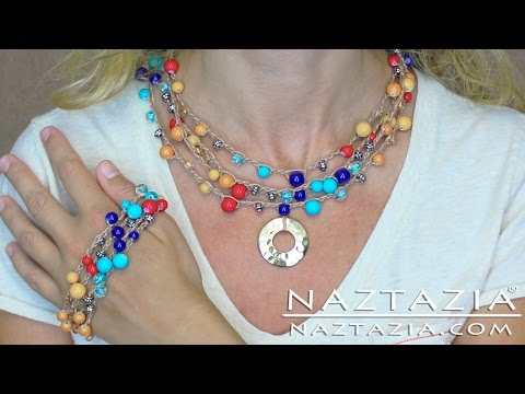DIY Learn How to Crochet with Beads - Make Bead Necklace Bracelet Jewelry Chain Stitch