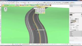 getlinkyoutube.com-Sketchup Tips - How to Conform a Road to a Terrain and Texture it