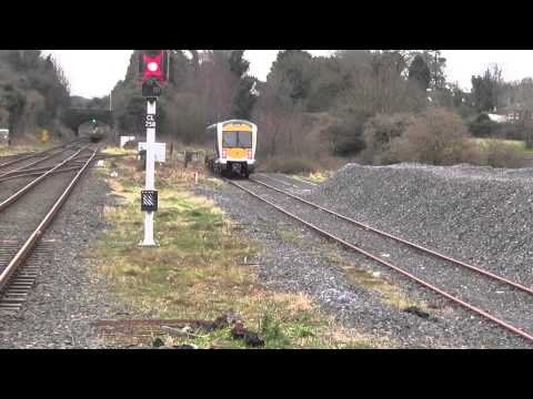 RARE 3012 Departs from the Bay Platform at Antrim