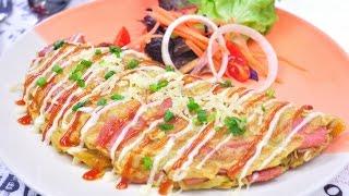 getlinkyoutube.com-ไข่เจียวมาม่า - มาม่าออมเล็ต Noodle Omelette
