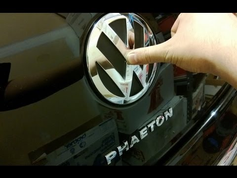 Vw PHAETON hidden trunk button and auto hiding trunk latch (W12 with KESSY)