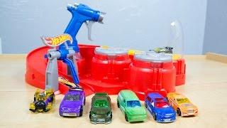 getlinkyoutube.com-Hot Wheels Color Shifters Color Blaster Color Changers Playset