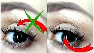 getlinkyoutube.com-Applying false eyelashes UNDERNEATH your natural lashes ! | DYNA ❤