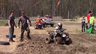 getlinkyoutube.com-Kids ATV Races At Run What Ya Brung Indiana May 2015 Finish View