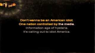 Green Day - American Idiot karaoke