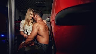 Guy and girl kissing passionately. Stock video footage