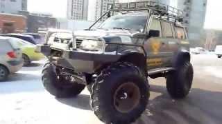 getlinkyoutube.com-Nissan Patrol + 66th bridges + krazovsky wheels. Ниссан Патрол + 66 мосты + кразовские колеса