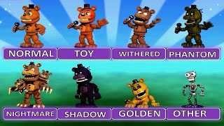 "getlinkyoutube.com-Five Nights at Freddy's World EXTRA MENU ""All Characters"""