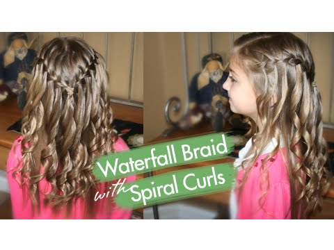 Spiral Curls | Waterfall Braid