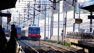 getlinkyoutube.com-Korail Line 1 Gyeongin express trains passing Bugae