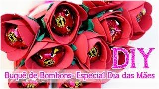 getlinkyoutube.com-DIY: Buquê de Bombons | Rosas em EVA | Dica de Presente #Especialdiadasmaes