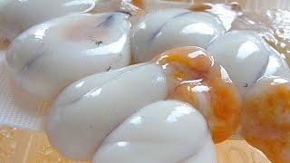 "Eating Japanese food ""Kouika Shirako & Tamago"" not sashimi (ASMR)"