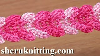 getlinkyoutube.com-Crochet Braid Lace Ribbon Tutorial 30 Single Crochet Stitches