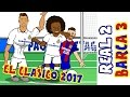 2-3! 🎤THE SHAPE OF MESSI🎤! Real Madrid vs Barcelona El Clasico 2017  Parody Goals and Highlights