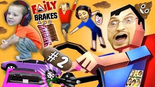 WE'RE GONNA CRASH! HE'S GONNA DOOP! Faily Brakes & Muddy Heights #2 w/ Chase (FGTEEV Gameplay)