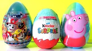 Surprise Kinder Transformers Robots, Surprise Paw Patrol Toys, Peppa Pig by TOYS CLUB