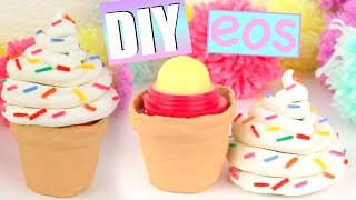 getlinkyoutube.com-DIY ICE CREAM EOS- How To Make Cute Ice Cream Cone Lip Balm!
