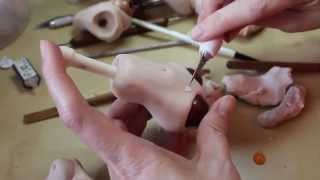 getlinkyoutube.com-Sculpting a Ball-Jointed Doll Torso (BJD) from Polymer Clay - http://www.makingfairies.com/